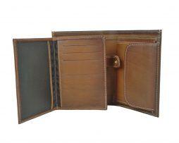 Luxusná kožená peňaženka č.8560 v hnedej farbe (4)