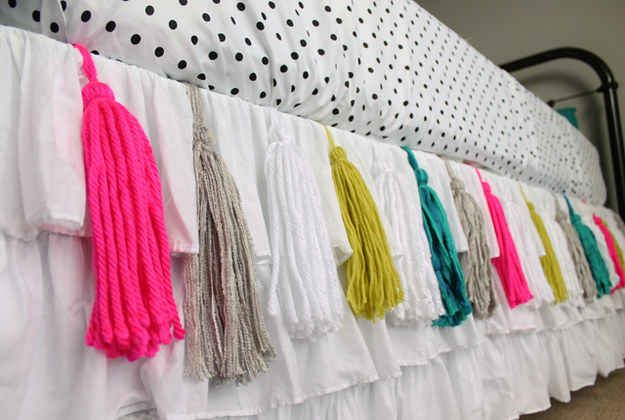 Add tassels to your bedskirt.
