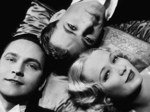 Fredric March, Gary Cooper and Miriam Hopkins 1933
