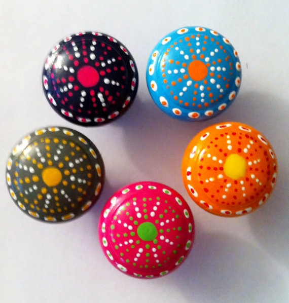 painted cabinet knobs