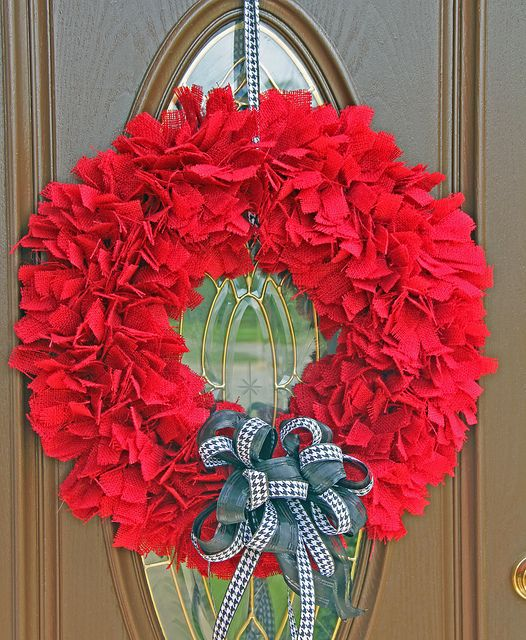 I'd throw a little Houndstooth in there...Definitely updating my Football Season wreath next year!