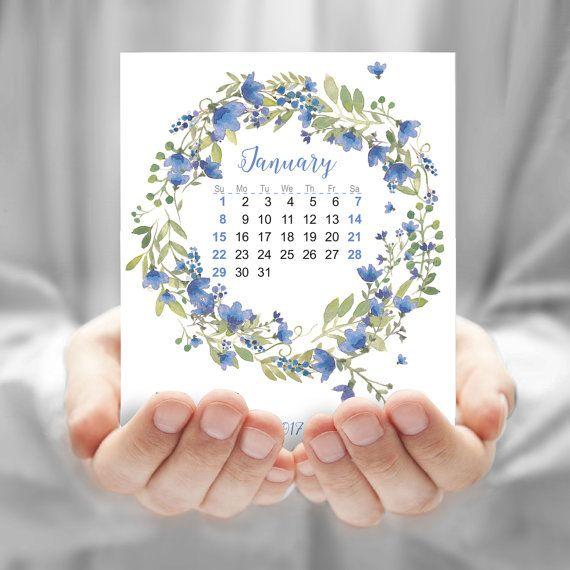 Flower watercolor calendar CD flower calendar by JAnoveltyDeSign