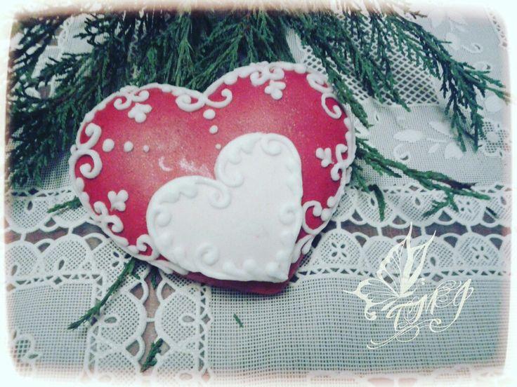 Heart in heart cookie by TMJcreative.