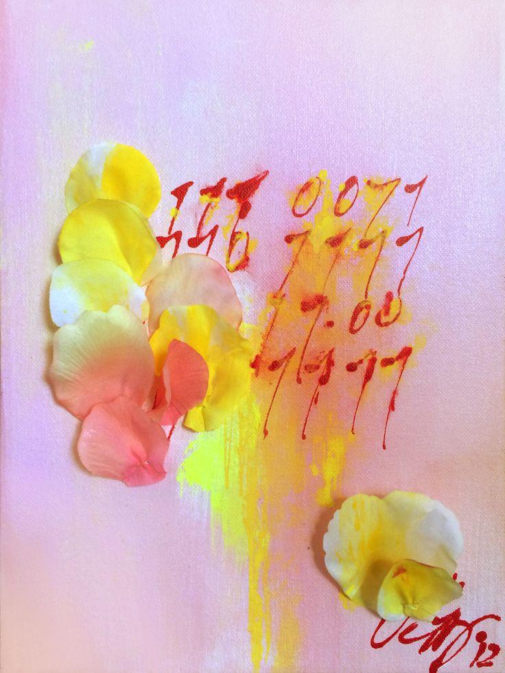 "solo mixed media and binary code by Veera Pfaffli | SOLD | 9""w x 12""h | Original Art | http://www.vangoart.co/veera-pfaffli/solo-mixed-media-and-binary-code-piece @VangoArt"