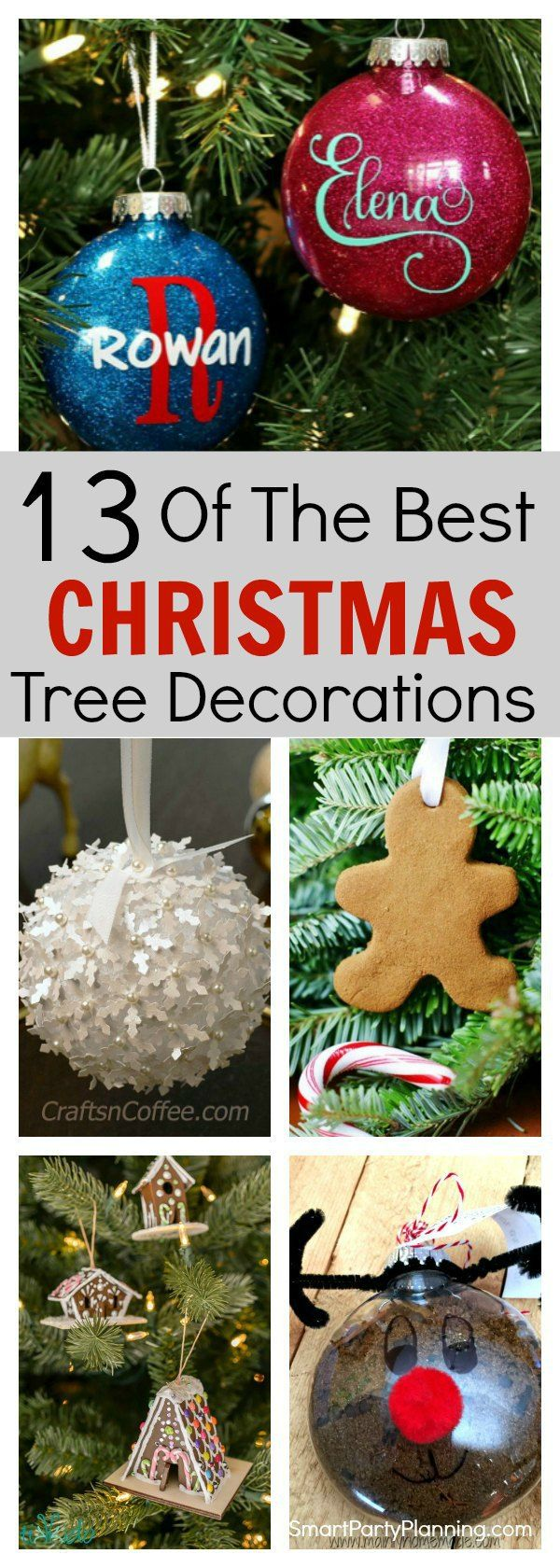 "13 of the best Christmas Tree Decorations"" width=""600"" height=""1680"" data-pin-description=""Why not try your hand at a bit of DIY and create your own Christmas tree decorations this year. This selection is all easy and fun to make, they and are great for kids to get involved in. They will make a fantastic holiday activity which you can enjoy year after year. With different themes to try, there is something that everyone will love. #Christmas #Decorations #Craft"