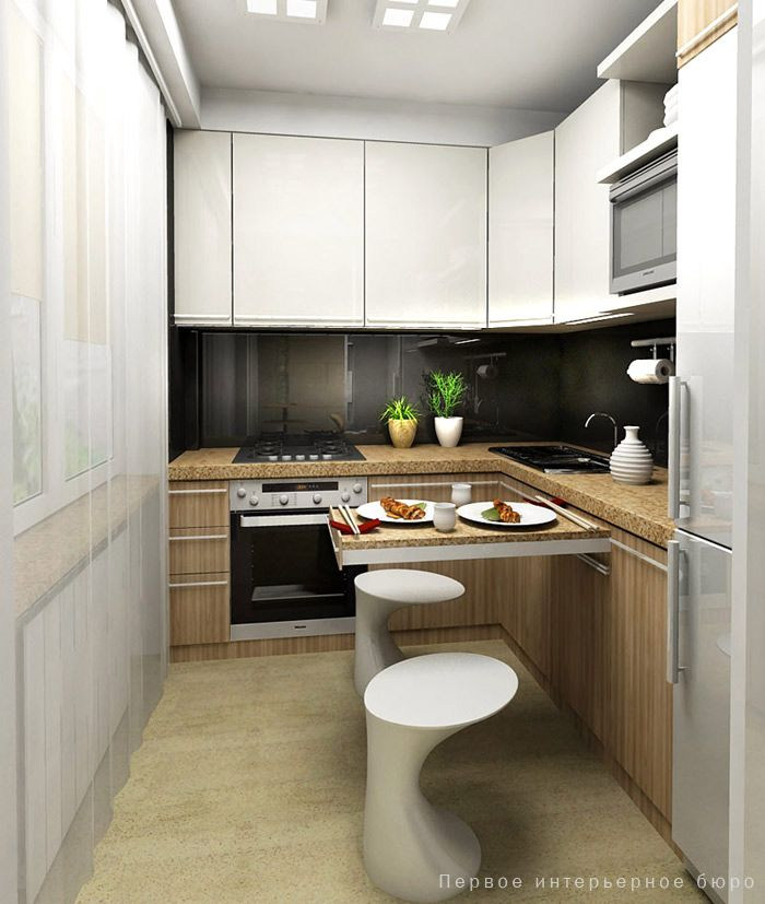 small kitchen ideas with sliding table