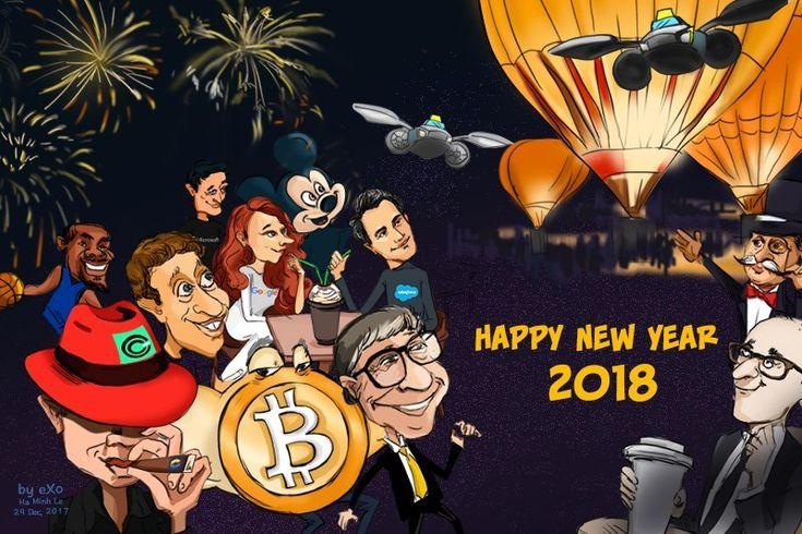 #Cartoon of the week – Happy new year 2018!  #Happy_new_year #2018 #DigitalMarketing #Software #Collaboration