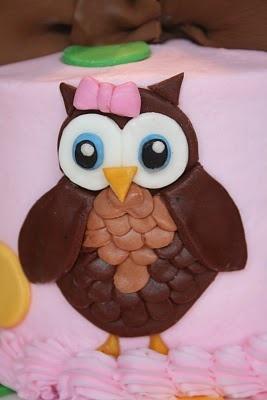 And Everything Sweet: Girly Owl Birthday Cake