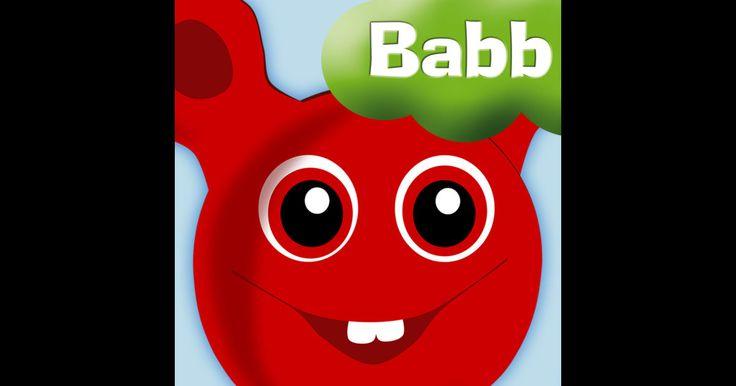 """Bobbopp (20 kr) - en app med språklek för småttingar. I appen följer du med Babblarnafiguren """"Bobbo"""" som går, simmar och flyger runt i Babblarnas dal för att samla saker med """"rätt ljud"""" att stoppa i sin hatt. Kan du gissa vilka ljud Bobbo gillar? Kan du hoppa över stenarna? Du vet väl att Bobbo älskar Bobblon!? - de växer på buskarna i dalen. #babblarna #äppelhyllan"""