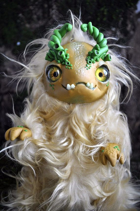 Spring Rustling STUFFED CUTE CREATION Spirit Ooak by FoxyMocksy