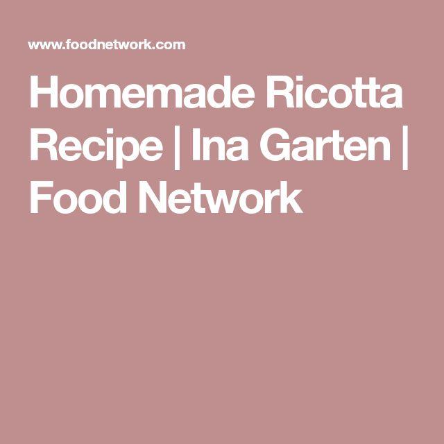 Homemade Ricotta Recipe | Ina Garten | Food Network