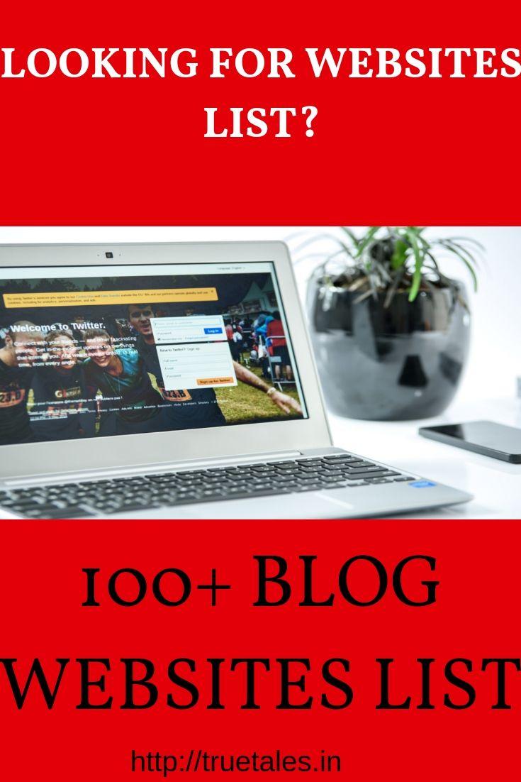 100+ Hindi Blog Sites List| Indian Blog Website | Hindi Blog Sites