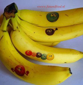 banaan plak tatoeage - banana tatoo