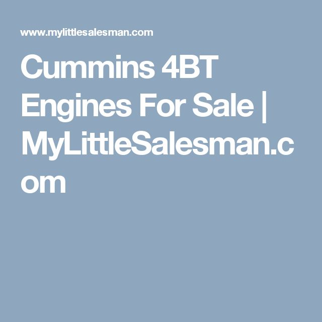 Cummins 4BT Engines For Sale | MyLittleSalesman.com