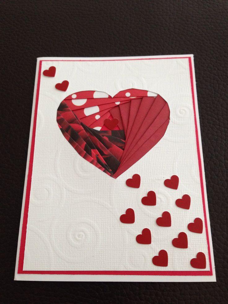 Открытка, открытка сердечко айрис фолдинг