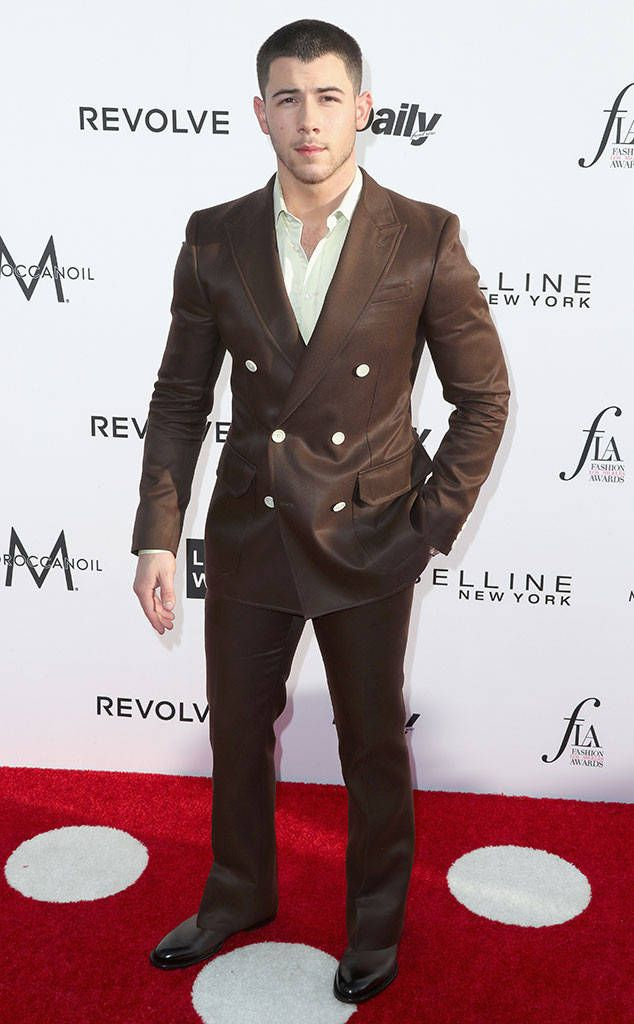 Nick Jonas from Fashion Los Angeles Awards 2017: Red Carpet Arrivals  The host with the most has arrived!