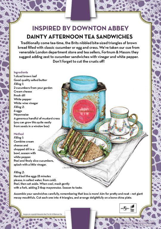 Downton Abbey Inspired Recipe: Dainty Afternoon Tea Sandwiches