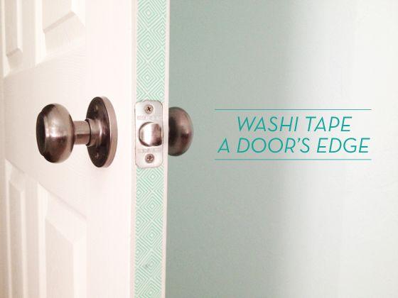 washi tape a door edge