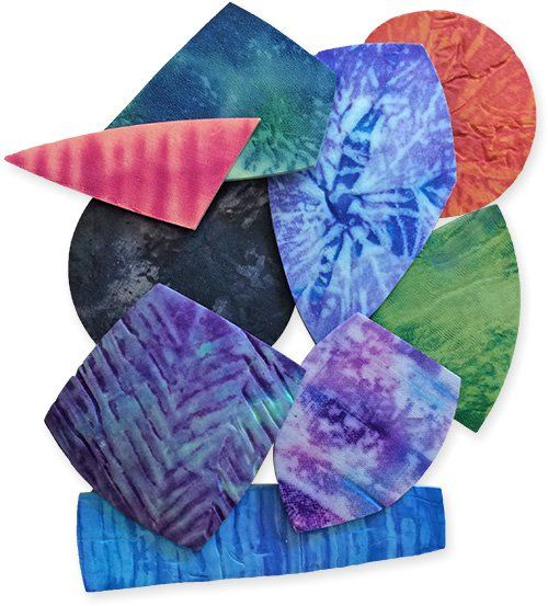 Shibori summer | Polymer Clay Daily