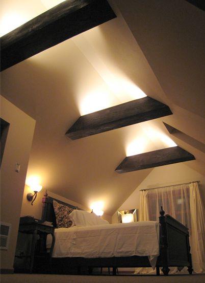 interessante raumgestaltung mit indirekter beleuchtung