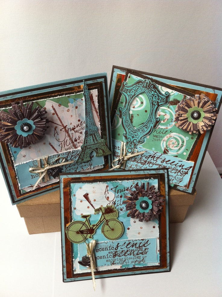 Distressed Glue Resist Cards. Using glossy accents, gloss card and Distress Inks.