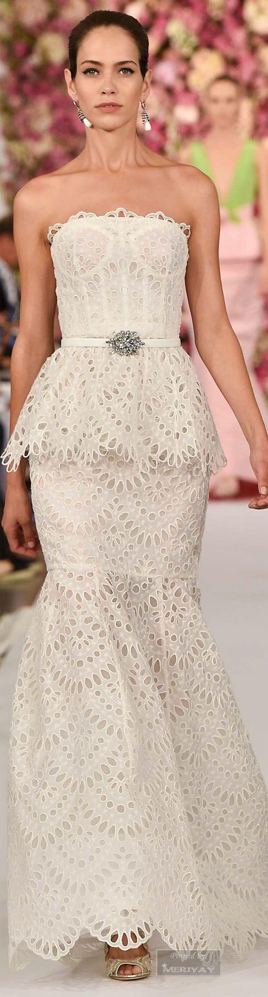 ♥ Couture Spring/Summer 2015~ ♥ ***Oscar de la Renta.Spring 2015***