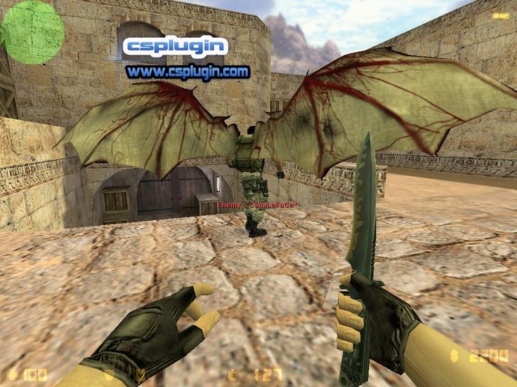Yarasa kanatları olan paraşüt modeli. Zombie modlar için uygun olacağını düşündüm. Gerçi herkes istediği modda kullabilir. Paraşüt tuşuna (e) bastığınız da yarasa kanatları olan paraşüt açılıyor.