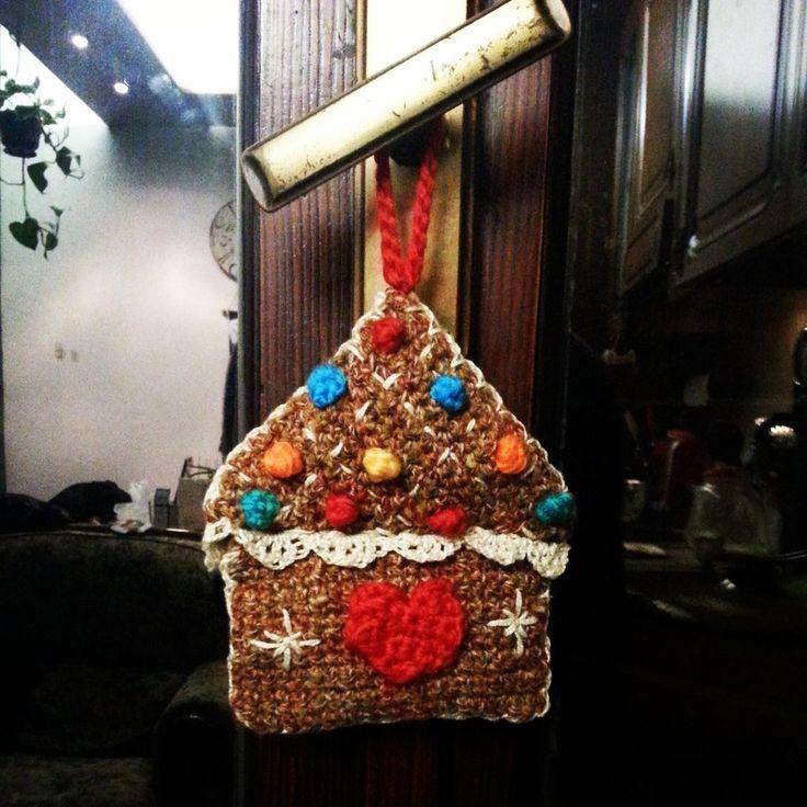Addobbo amigurumi, Casa simil marzapane idea regalo fatto a mano, uncinetto by Fatto a mano Lumanufattu, 4,50 € su misshobby.com