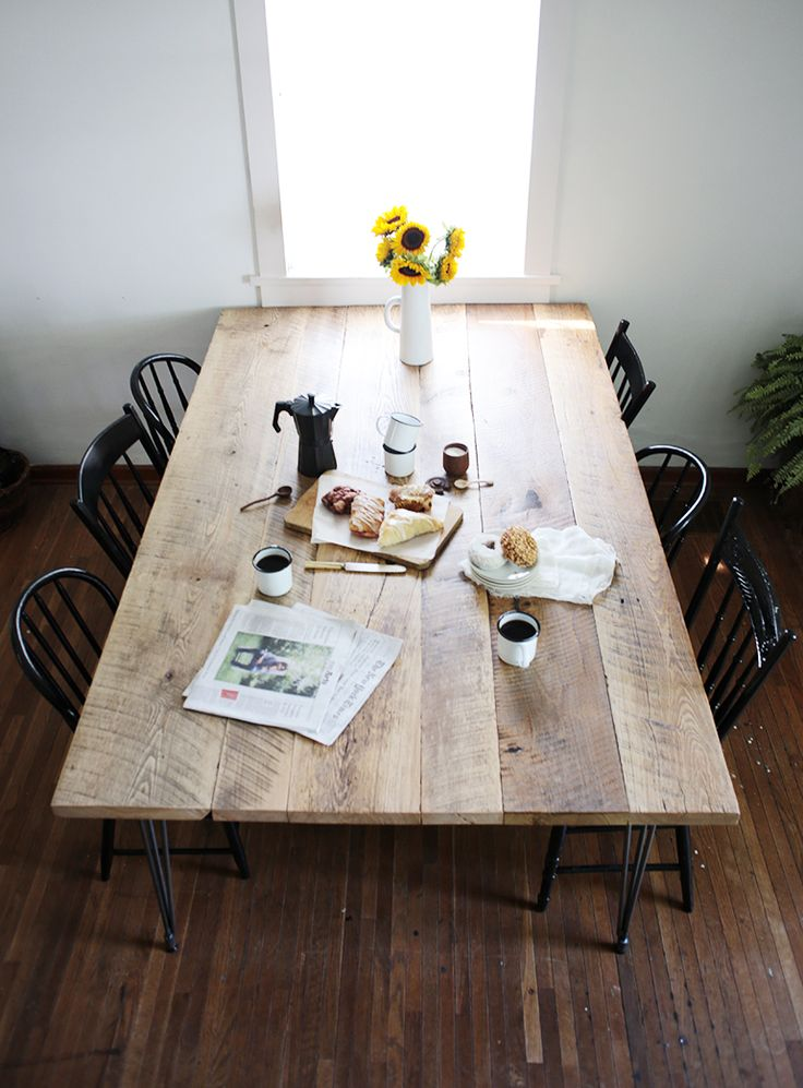 DIY Reclaimed Wood Table DIY Amp CRAFT PROJECTS Reclaimed Wood Kitchen Wood Table Reclaimed