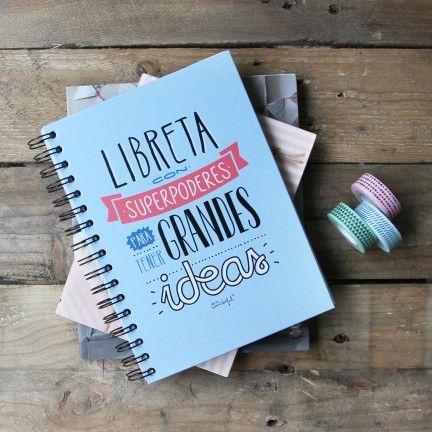 Libreta de color con superpoderes para tener grandes ideas - Pegatinas pared frases ...