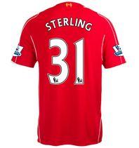 14-15 Cheap Liverpool Football Shirt STERLING #31 Home Replica Jersey [1408120262]