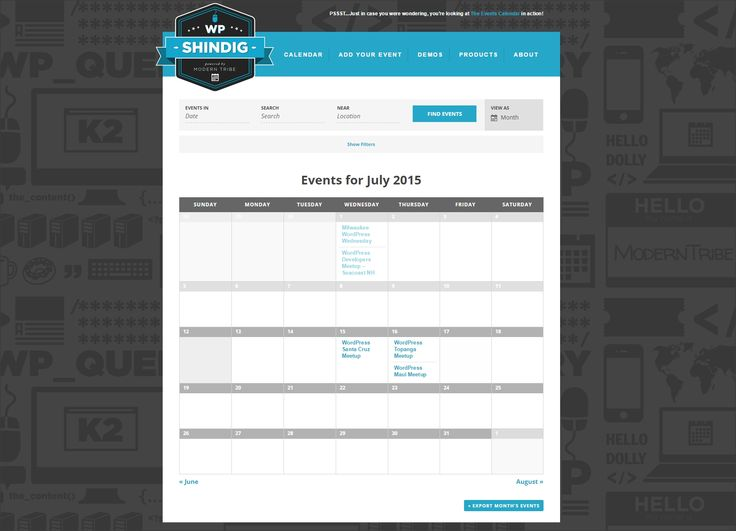 very good functional calendar. allows to filter by many options. also includes a nice detailed event page upon clicking on the individual event.