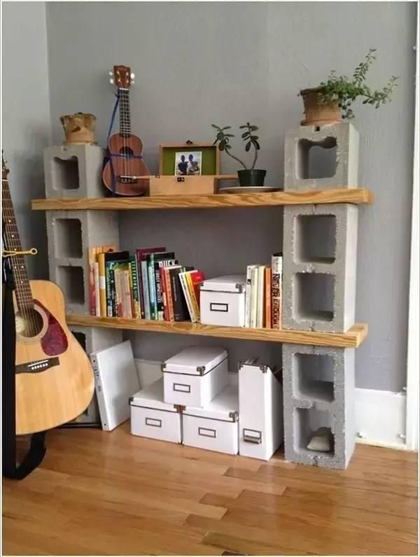 Best Decorate With Concrete Blocks Images On Pinterest - Awesome home projects created from concrete cinder blocks