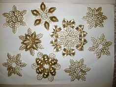 diy pasta snowflakes tree ornaments gold crafts kids - this site as tons of cute pasta ornament ideas