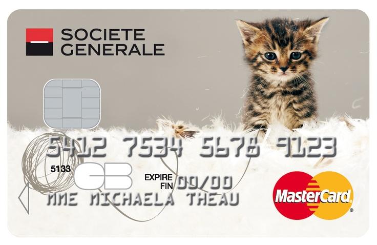 Carte MasterCard #societegenerale.  #chat #animaux #cat #assurance