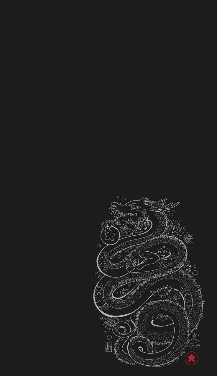 dragon dark wallpapers aesthetic iphone retro strawberry cool ios nice anime