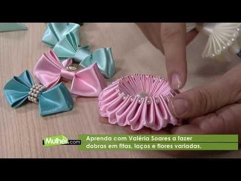 Mulher.com 07/08/2012 Valeria Soares - Arquinho Trançado Com fitas 01 - YouTube