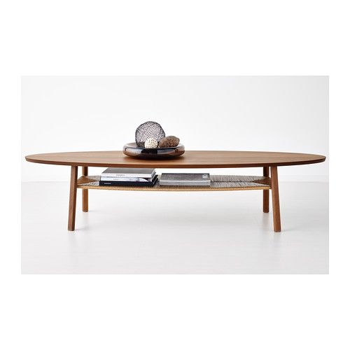 Stockholm coffee table walnut veneer front rooms ikea for Ikea table ovale