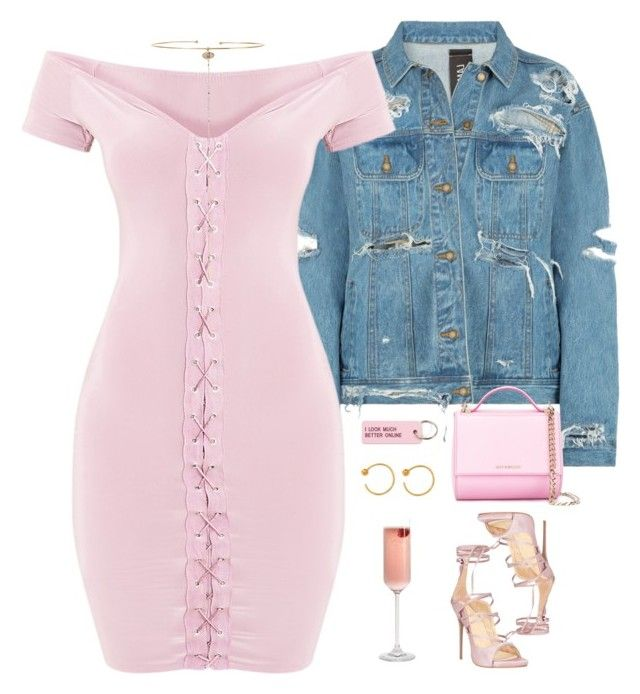 """off the shoulder dressy look "" by queenbrittani ❤ liked on Polyvore featuring A Peace Treaty, Givenchy, Various Projects and Chan Luu"