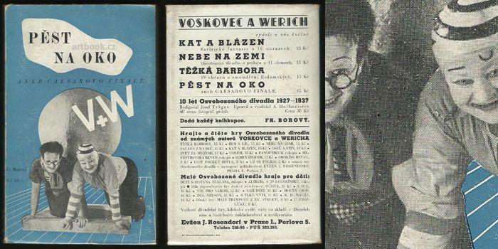 VOSKOVEC & WERICH: PĚST NA OKO. Antikvariát PRAŽSKÝ ALMANACH www.artbook.cz -  aktuální nabídka