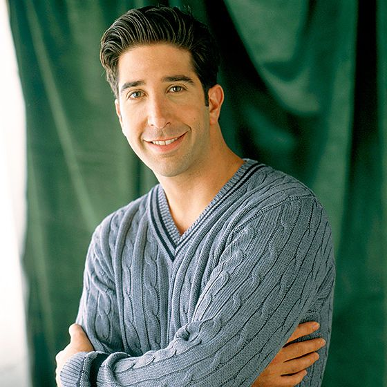 Schwimmer initially turned down the role of paleontologist Ross Geller, but signed on to the series after learning producers had written the part with him in mind. Schwimmer was the first actor in the ensemble cast to be hired.  Read more: http://www.usmagazine.com/celebrity-news/pictures/friends-stars-then-now-2009208/1731#ixzz3Looa5iPp  Follow us: @usweekly on Twitter | usweekly on Facebook