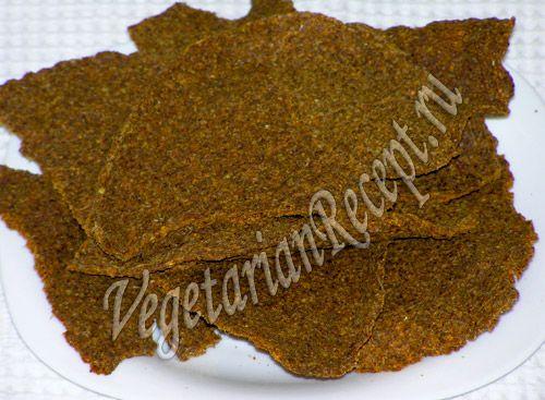 Сыроедческий хлеб рецепт с фото