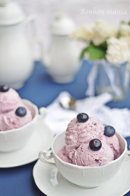 Bonbon mánia: Joghurtos áfonya fagylalt