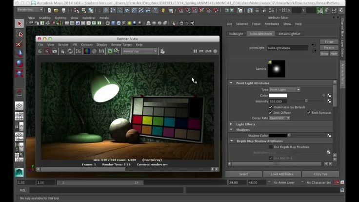 Linear Light Workflow in Maya. Set up a linear light workflow in Maya 2014. A look at the render settings, viewer settings, and how it's all...