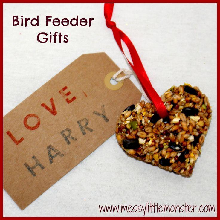 Messy Little Monster: Bird feeder kid made gift idea