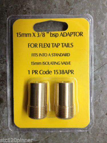 1-PAIR-15mm-X-3-8-034-BSP-ADAPTORS-FOR-FLEXI-TAP-TAILS-TO-ISOLATOR-VALVES-ETC