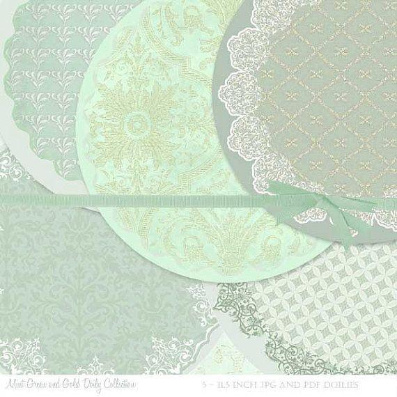 Mint Green Printable Doilies Mint Green by BaerDesignStudio