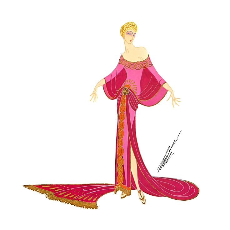 Messalina, The Joys of the Capitol by Erte