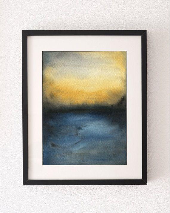 Abstract Sunset, Art Print, Abstract Art, Wall Art, Water Colour Print, Abstract, Sunset, unframed