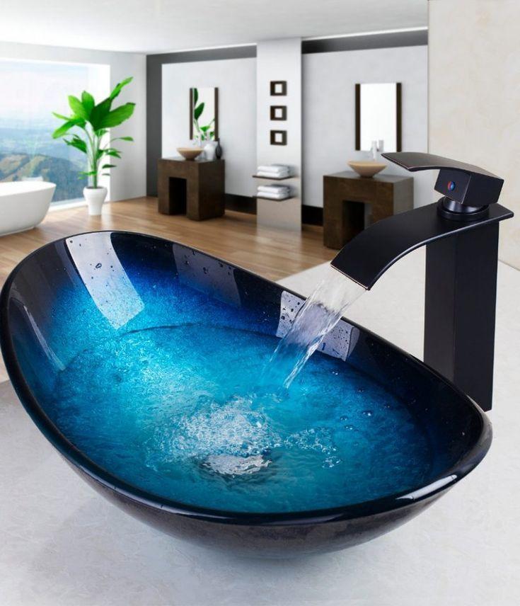 Wasserfall Waschbecken Wasserhahn – #bathroomsinks…
